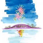 西日本大濠花火大会2015の日程、有料席のチケット情報、花火観覧場所